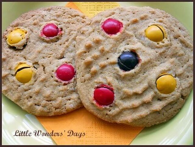 Fall Peanut Butter and M&M Cookies, Fall Family Fun Night
