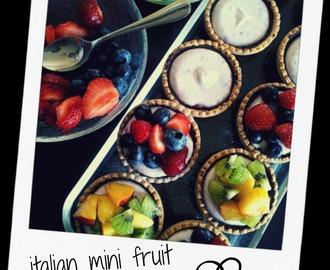 italian mini fruit tarts ♥