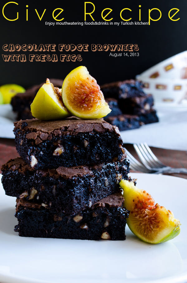 Chocolate Fudge Brownies with Figs