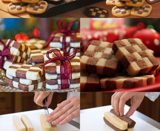 Traditional Christmas Checkerboard Cookies