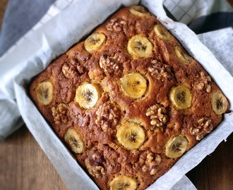 [Recipe] Gula Melaka Banana Cake With Walnuts