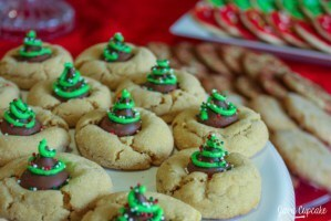 12 Days of Cookies – Day 2: Christmas Tree Peanut Butter Blossoms