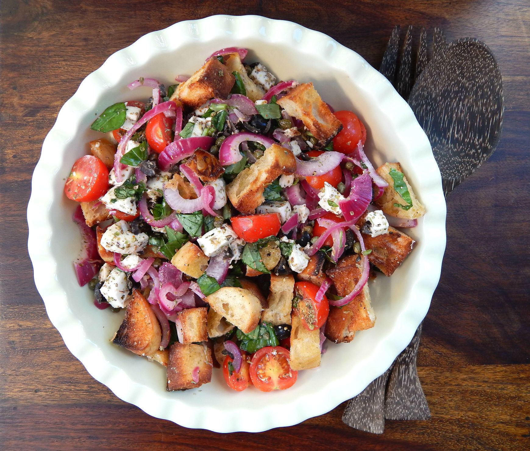 Cooking with Gousto – Mozzarella Panzanella Salad