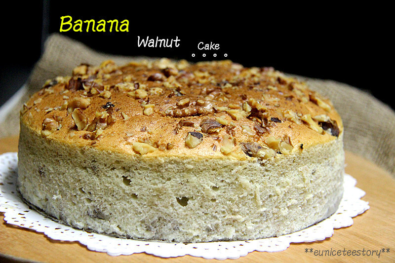 Banana Walnut Cake 香蕉核桃轻蛋糕