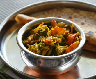 Mixed Vegetable Subji for chapathi | Masala Veggies side dish