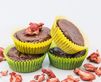 Chocolate Strawberry Protein Muffins
