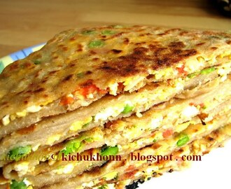 Egg Bhurji stuffed Paratha