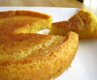 Celebrating Kichu Khon with Eggless Mango Cake