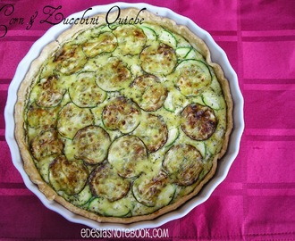 Corn and Zucchini Quiche