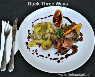 Duck Three Ways Recipe: Duck a l'Orange, Spiced Pulled Duck Leg, Honey & Soy Glazed Duck Roll