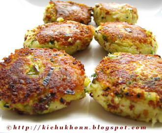 Aloo Narkel Tikki / Potato & Coconut Patties