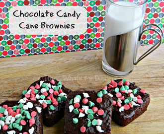 Chocolate Candy Cane Brownies