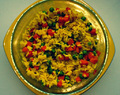 Yellow Rice with Peas and Carrots Side Dish