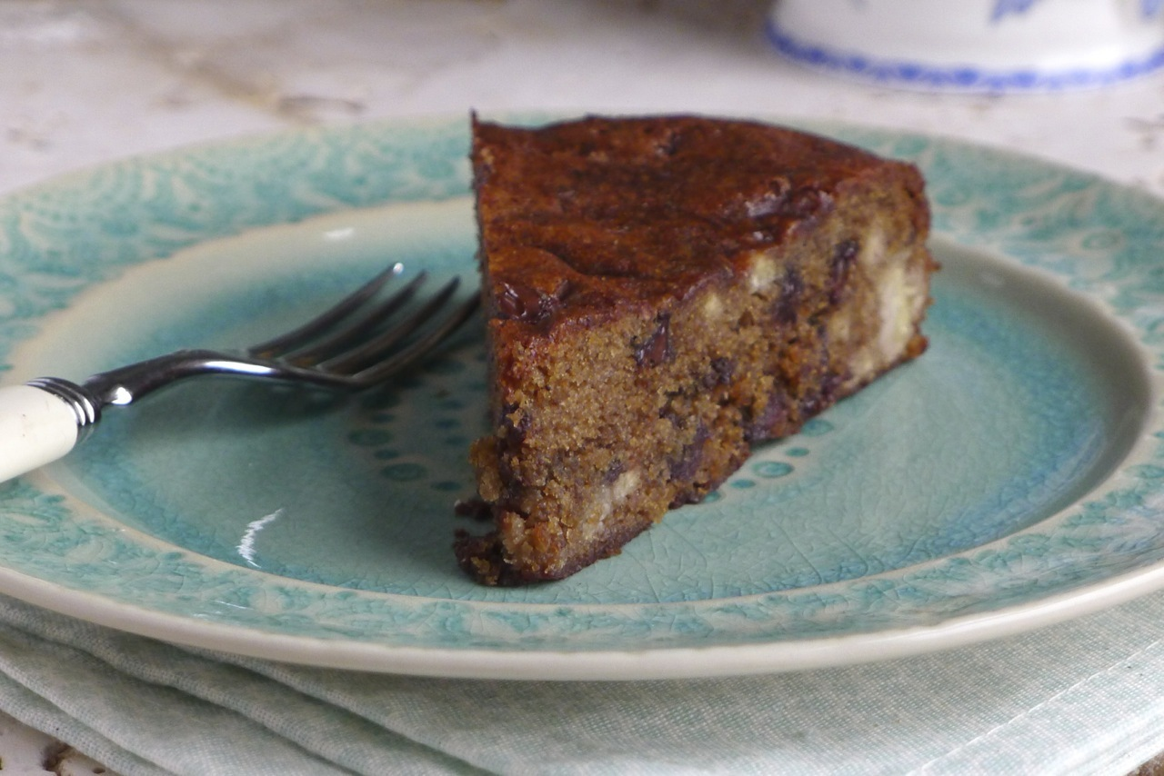 Banana Chocolate Chip Cake {Gluten Free & Vegan}