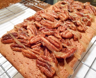 Southern Candied Pecan Pound Cake