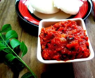 Onion , Tomato chutney for Idlis and dosa