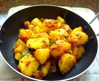 Spicy Methi Potatoes ( Fenugreek)