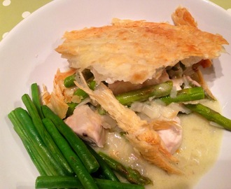 Chicken & Asparagus Pie with Coconut Milk