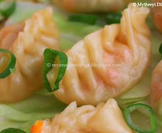 Steamed Vegetable Wontons / Vegetable Momos Recipe
