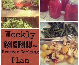 Weekly Menu / Freezer Cooking Plan ~ 8/26