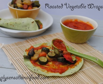 Roasted Vegetable Wraps