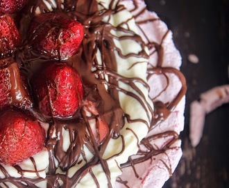 Strawberry Chocolate Cream Cheese PAVLOVA