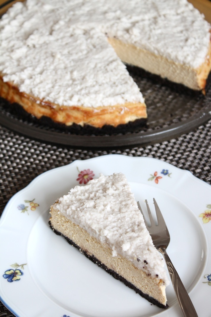 Süße Sonntagsgrüße: just some vegan cheesecake…with coconut cream