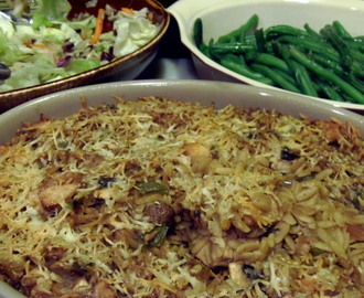 Chicken Mushroom And Orzo Casserole