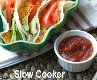 Slow Cooker Creamy Chicken Tacos