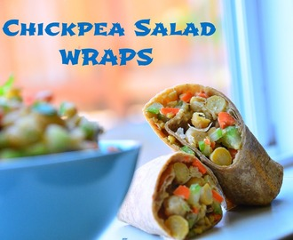 Chickpea Salad Wraps/Garbanzo bean Salad Wraps