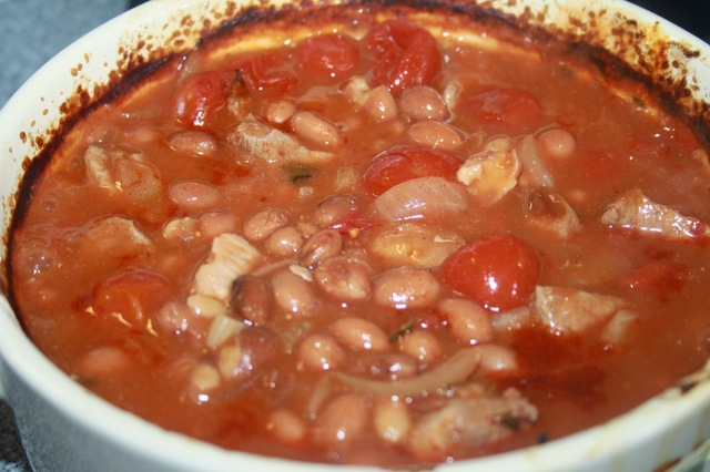 In Praise of Canned Food: Pork & Fennel with Red Wine & Borlotti Beans Casserole
