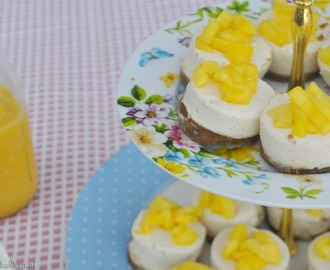 High Tea: Mini cheesecake met bastogne en mango