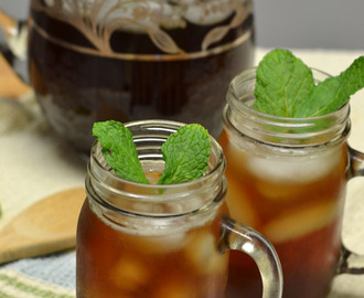 Mint Sweet Tea for Labor Day #SundaySupper