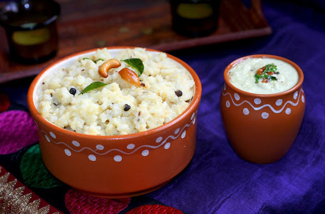 Re-Post - Pongal with Coconut Chutney