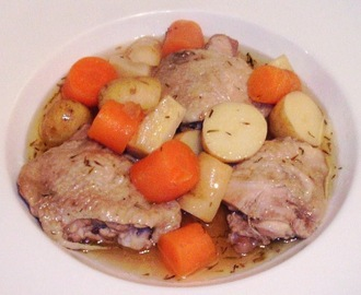 Chicken Thighs and Root Vegetables Stew