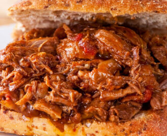 Shredded Beef Crockpot Sandwiches