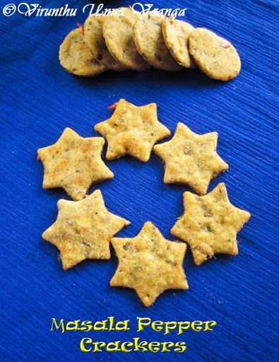 MASALA PEPPER CRACKERS I WHEAT CRACKERS I LOW CALORIE SNACKS I BAKED SAVORY BISCUITS