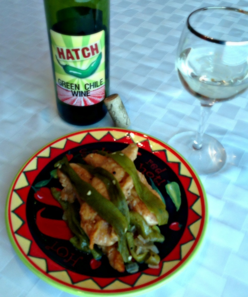 Chicken in Hatch Green Chile Wine Sauce