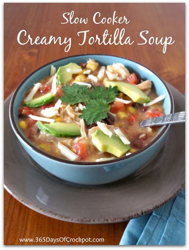Recipe for Creamy Slow Cooker Creamy Tortilla Soup (and a $1.00 off coupon for Kleenex)