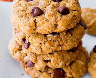 Flourless Peanut Butter Oatmeal Cookies.