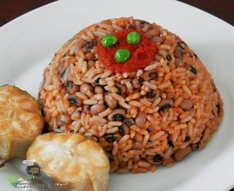 Nigerian Rice and Beans: how to cook Nigerian Jollof Rice and Beans