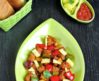 Sweet and Sour Chicken / Pineapple Chicken  - With stepwise pictures - International Food Challenge