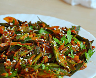 How to make Bhindi Do Pyaza / Bhindi Masala / Spicy Okra Fry: