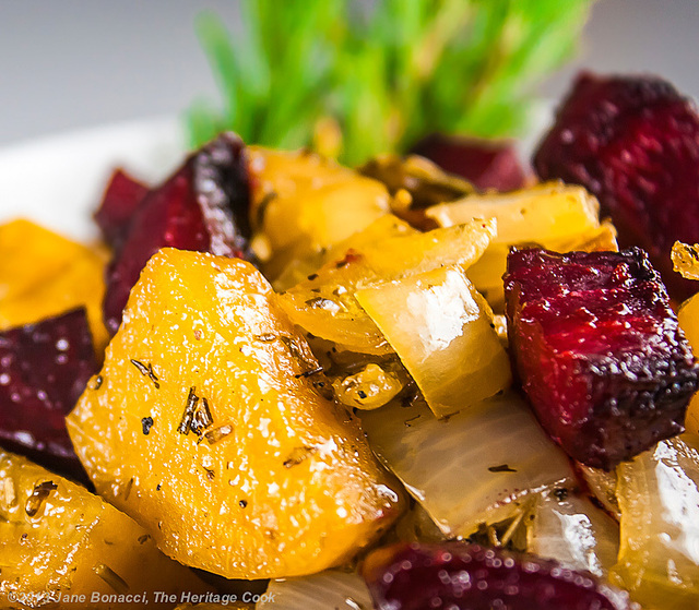 Rosemary Roasted Beets, Potatoes and Peppers #SummerFest