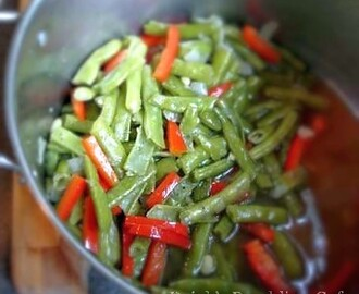 Cooking Pole Beans, New Southern Style
