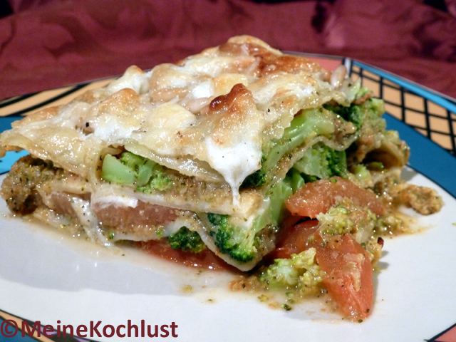 Gemüse-Lasagne mit Brokkoli - Vegetable lasagne with broccoli