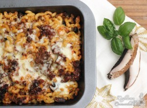 Easy Dinner Recipes: Baked Cheeseburger and Mushroom Pasta