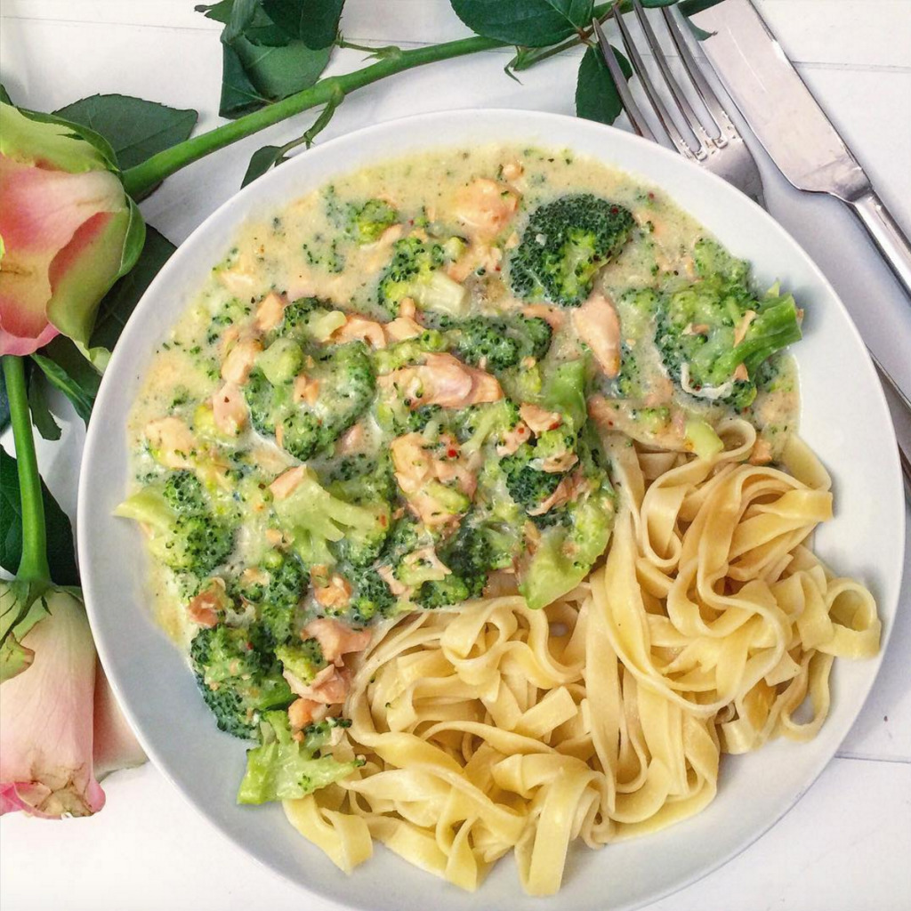 ♥ RECEPT: ROOMTAGLIATELLE MET BROCCOLI & ZALM