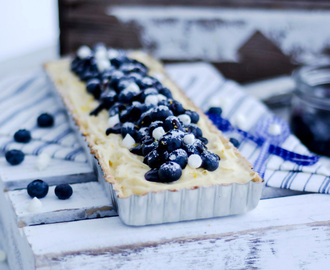 Blueberry and Lemon Pastry Cream Pie (Blåbärs- och Citron/vaniljkräm paj)