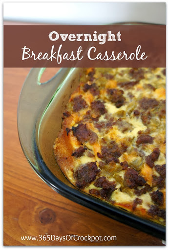 Recipe for Overnight Breakfast Casserole with Oakdell Eggs, Sausage, Green Chiles and Cheese (and a giveaway!)